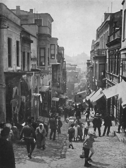 'Looking down Step Street, Constantinople', 1913-Unknown-Photographic Print