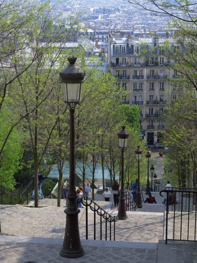 Looking Down the Famous Steps of Montmartre, Paris, France, Europe-Nigel Francis-Photographic Print