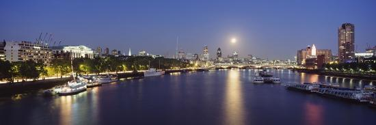 Looking Down the Thames at Dusk-Design Pics Inc-Photographic Print