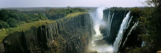 Looking Down the Victoria Falls Gorge from the Zambian Side, Zambia--Photographic Print