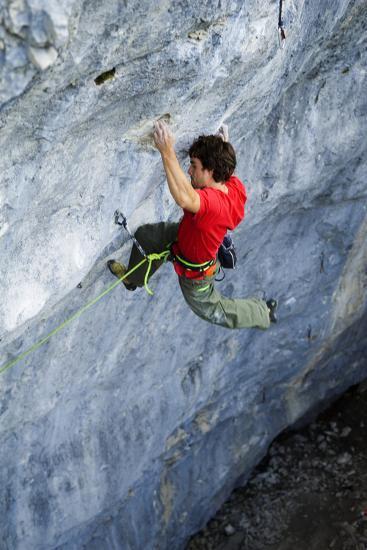 Looking Down Upon a Man Rock Climbing-Keith Ladzinski-Photographic Print