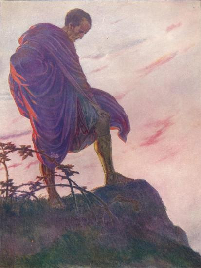 'Looking down upon the stream, he stood awhile deep in thought', c1912 (1912)-Unknown-Giclee Print
