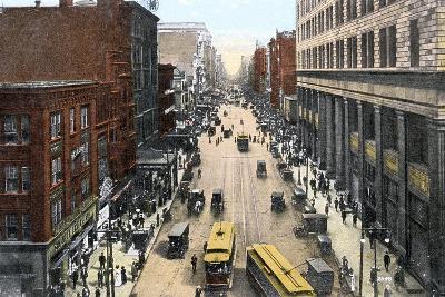 Looking East Along Market Street from City Hall, Philadelphia, Pennsylvania, USA, C1900s--Giclee Print