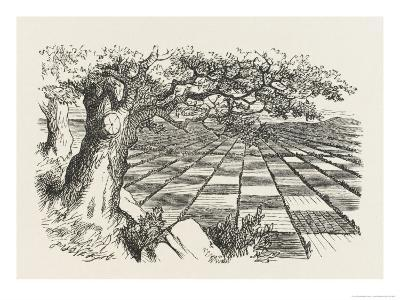Looking Glass Country-John Tenniel-Giclee Print