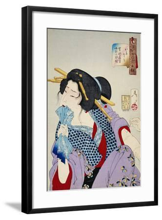 Looking in Pain: the Appearance of a Prostitute of the Kansei Era by Yoshitoshi-John Stevenson-Framed Photographic Print