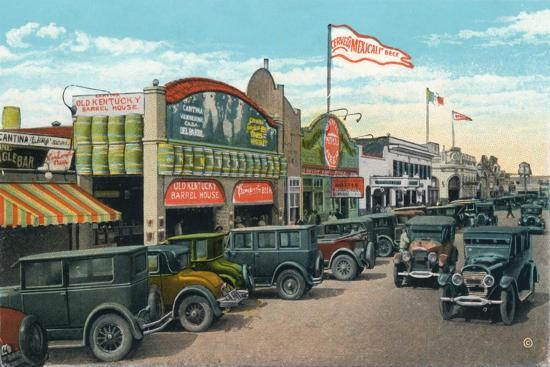 'Looking North on Main Street', c1939-Unknown-Giclee Print