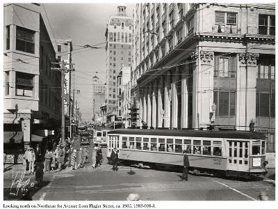 Looking North on Northeast 1st Avenue from Flagler Street, Miami, C.1935--Photographic Print