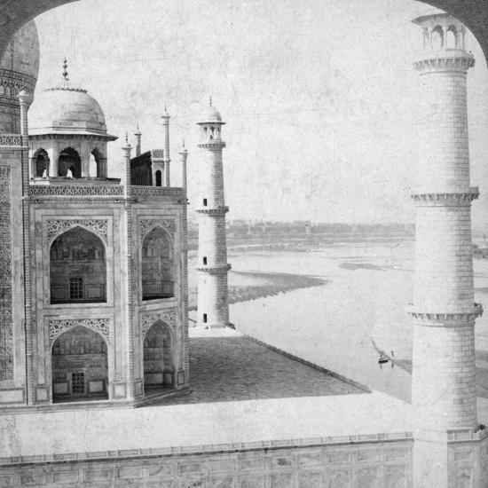 Looking North-West from the Taj Mahal Up the Jumna River to Agra, India, 1903-Underwood & Underwood-Photographic Print