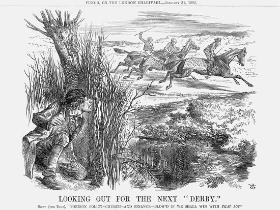 Looking Out for the Next Derby, 1863-John Tenniel-Giclee Print