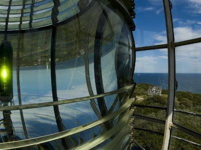 Looking Out from Atop Southeast Light with Beacon Illuminated-Todd Gipstein-Photographic Print