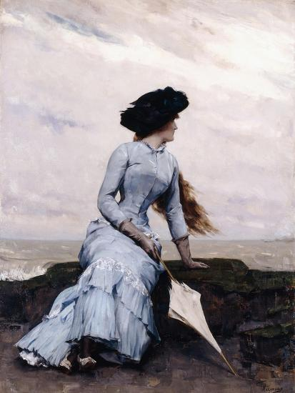 Looking Out to Sea-Charles Hermans-Giclee Print