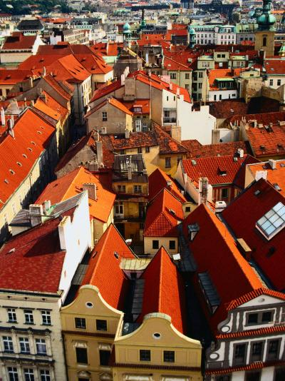 Looking Over Old Town Towards Church of St. Gall, Prague, Czech Republic-Jonathan Smith-Photographic Print