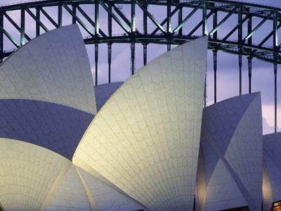 Looking over the Opera House to the Sydney Harbor Bridge, Close Up-Design Pics Inc-Photographic Print
