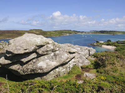 Looking over Towards Tresco from Bryher, Isles of Scilly, Cornwall, United Kingdom, Europe-Robert Harding-Photographic Print