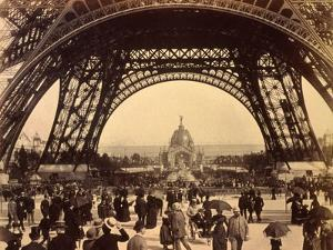 Looking Through the Base of Eiffel Tower, View Towards the Central Dome, Paris Exhibition, 1889