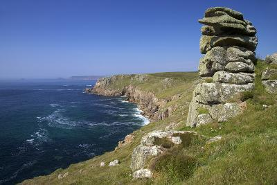 Looking to Sennen Cove from Lands End, Summer Sunshine, Cornwall, England, United Kingdom, Europe-Peter Barritt-Photographic Print
