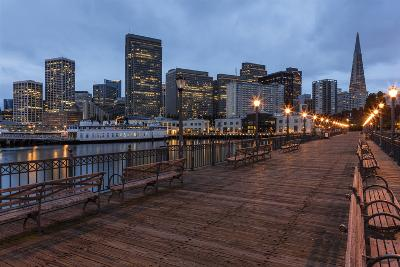 Looking to the Skyline from Pier on the Embarcadero in San Francisco, California, Usa-Chuck Haney-Photographic Print