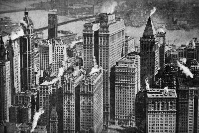 Looking Towards Brooklyn over the Skyscrapers of Broadway, New York City, USA, C1930S- Aerofilms-Giclee Print