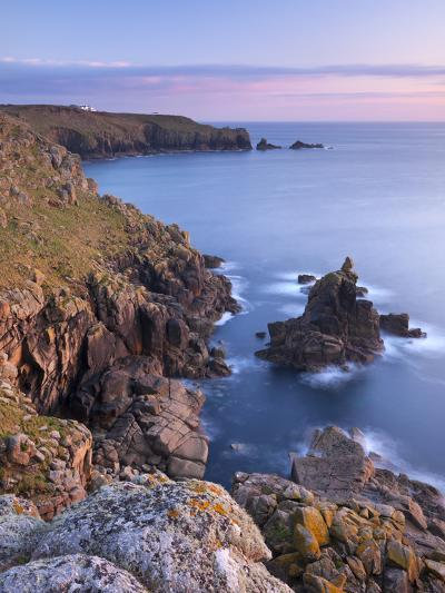 Looking Towards Land's End from the Cliffs Above Sennen, Cornwall, England. Spring-Adam Burton-Photographic Print