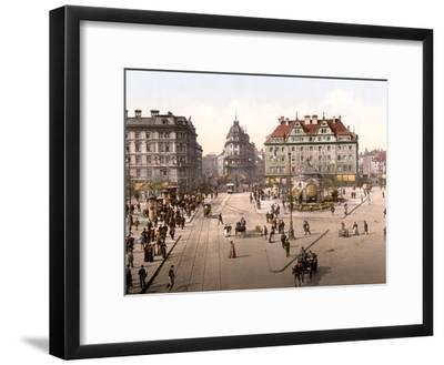 Looking Towards the Central Railway Station in Munich, Pub. C.1895