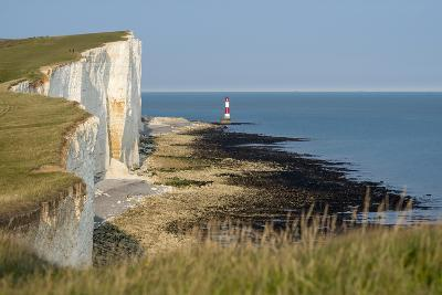 Looking Towards the Cliffs Near Beachy Head and the Lighthouse-Alex Treadway-Photographic Print
