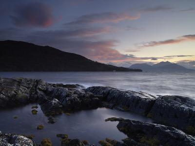 Looking Towards the Scottish Mainland from Loch na Dal, Isle of Skye, Scotland-Jon Gibbs-Photographic Print