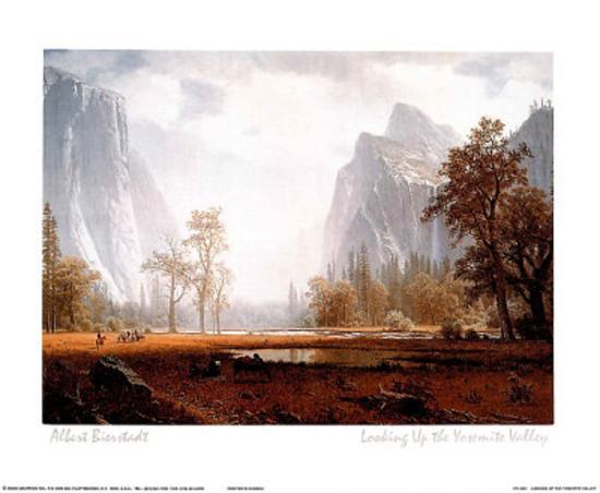 Looking Up the Yosemite Valley-Albert Bierstadt-Mini Poster