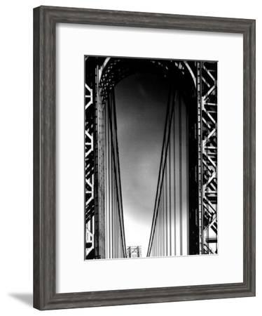 Looking up to Tower on the George Washington Bridge-Margaret Bourke-White-Framed Premium Photographic Print