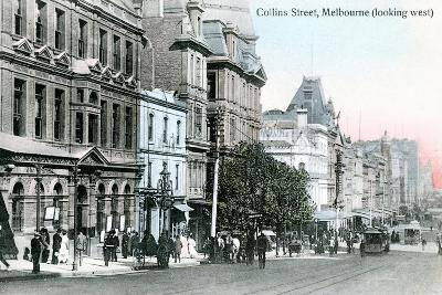 Looking West Along Collins Street, Melbourne, Australia, 1912--Giclee Print