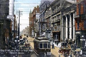 Looking West Along King Street, Toronto, Canada, C1900s