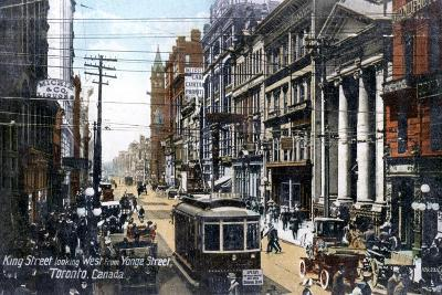 Looking West Along King Street, Toronto, Canada, C1900s--Giclee Print