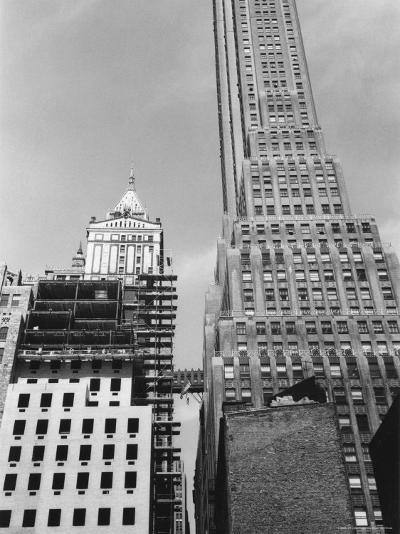 Looking West from Pearl Street to Pine Street in Lower Manhattan-Walker Evans-Photographic Print