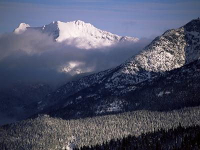 Looking West from the Top of Whistler, Whistler, British Columbia, Canada, North America-Aaron McCoy-Photographic Print