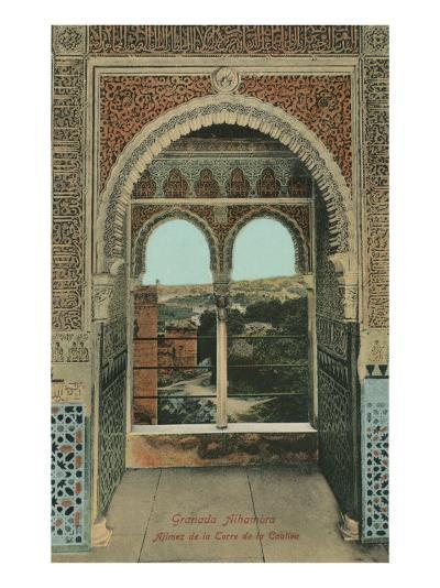 Lookout from the Prisoners Tower, Alhambra, Granada, Spain--Art Print