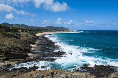 Lookout over Sandy Beach, Oahu, Hawaii, United States of America, Pacific-Michael-Photographic Print