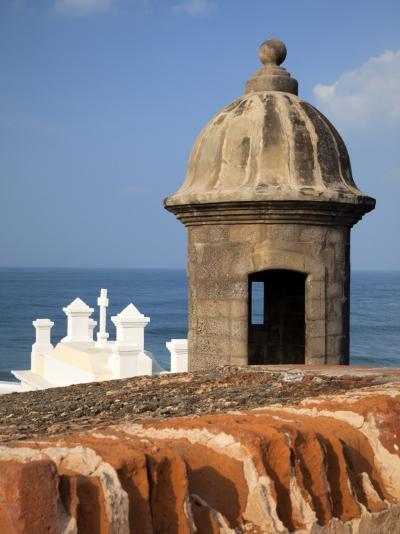 Lookout Tower at Fort San Cristobal, Old San Juan, Puerto Rico, Caribbean-Dennis Flaherty-Photographic Print