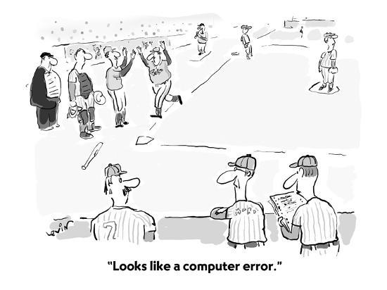 """Looks like a computer error."" - Cartoon-Arnie Levin-Premium Giclee Print"