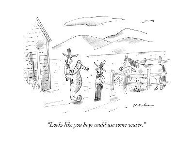 """""""Looks like you boys could use some water."""" - New Yorker Cartoon-Michael Maslin-Premium Giclee Print"""