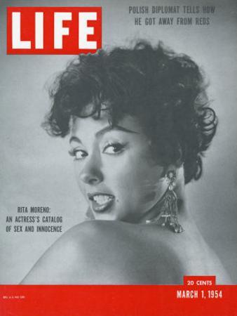 Actress Rita Moreno, March 1, 1954