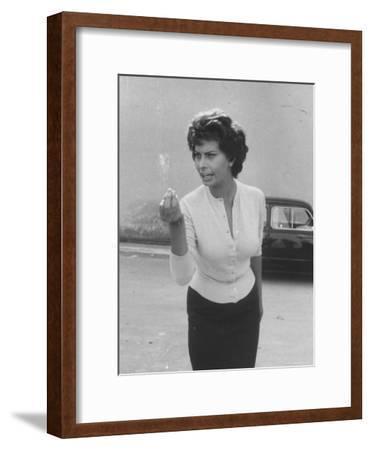 Actress Sophia Loren Displaying a Wide Range of Emotions