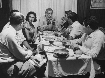 Author, Ernest Hemingway During Visit with Bullfighter Antonio Ordonez