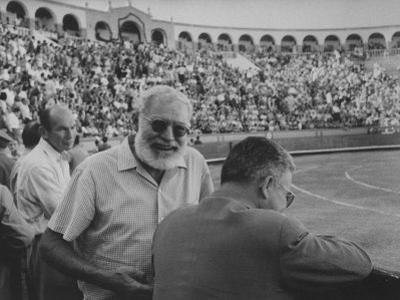 Author Ernest Hemingway with Friend at Spanish Toreadors
