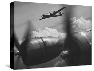 B-29's in Flight and Above Clouds on Bombing Mission over the Marianas During Ww Ii