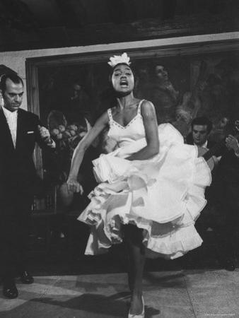 Dancer Maria Albaicin, Dancing Flamenco at Corral de La Moreria
