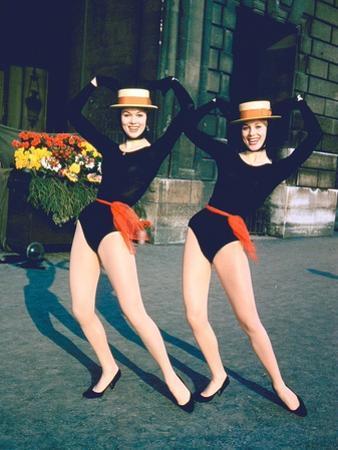 Dancer Twins Ellen and Alice Kessler of English Bluebell Troupe