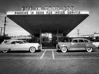 Drive-In-Restaurant, in Los Angeles Suburb by Loomis Dean