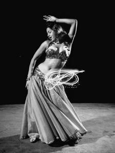 Egyptian Dancer Samia Gamal, Thrusting Sidewise to Make a Lassolike Pattern by Loomis Dean