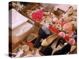 Flowers, Shoes and Other Accessories at Dior's Studio by Loomis Dean