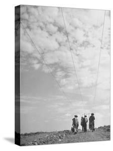 Illegal Immigrants from Mexico Following Power Lines North Into Us by Loomis Dean