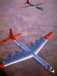 Intercontinental B-36 Bomber Flying over Texas Flatlands by Loomis Dean